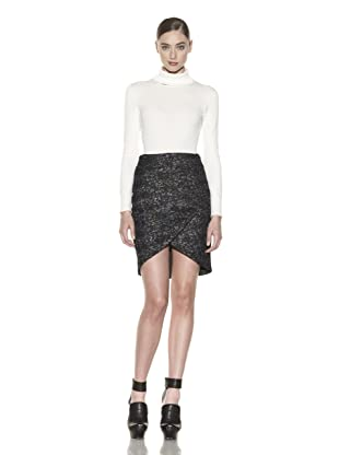 Costume National Women's Metallic Jacquard Skirt (Fantasy Black)