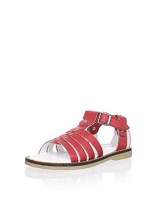 Billowy Kid's T-Strap Sandal (Red)