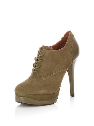 Pour La Victoire Women's Anika Lace-Up Stiletto Bootie (Army)