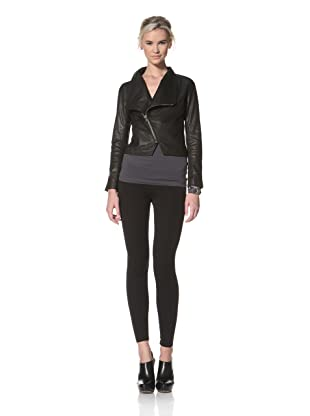 HARE + HART Women's Schiller Leather Jacket (Black)