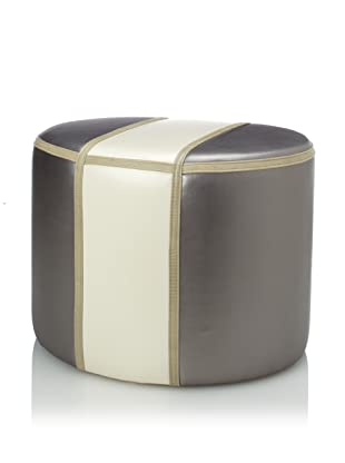 Shine by S.H.O Olivia Ottoman (Pewter/Sand)