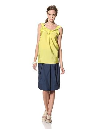 MARNI Women's Solid Deep Scoop Back Tank Top (Yellow)