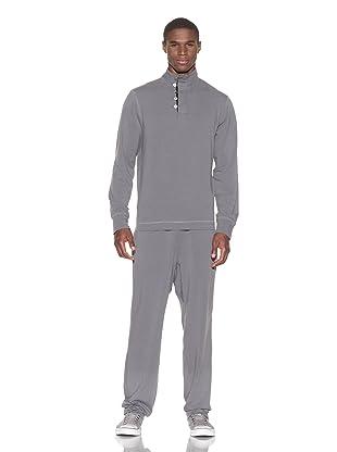 Guats Men's Pullover Henley (Grey)