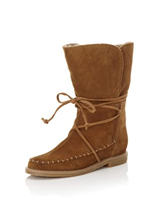 Jack Rogers Women's Little Nell Faux Fur Boot (Cappuccino Suede)