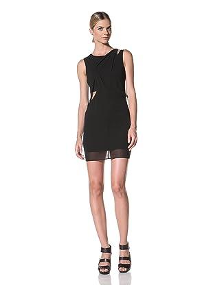 FACTORY by Erik Hart Women's Layered Diagonal Draped Dress (Onyx)
