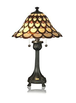 Dale Tiffany Peacock Table Lamp