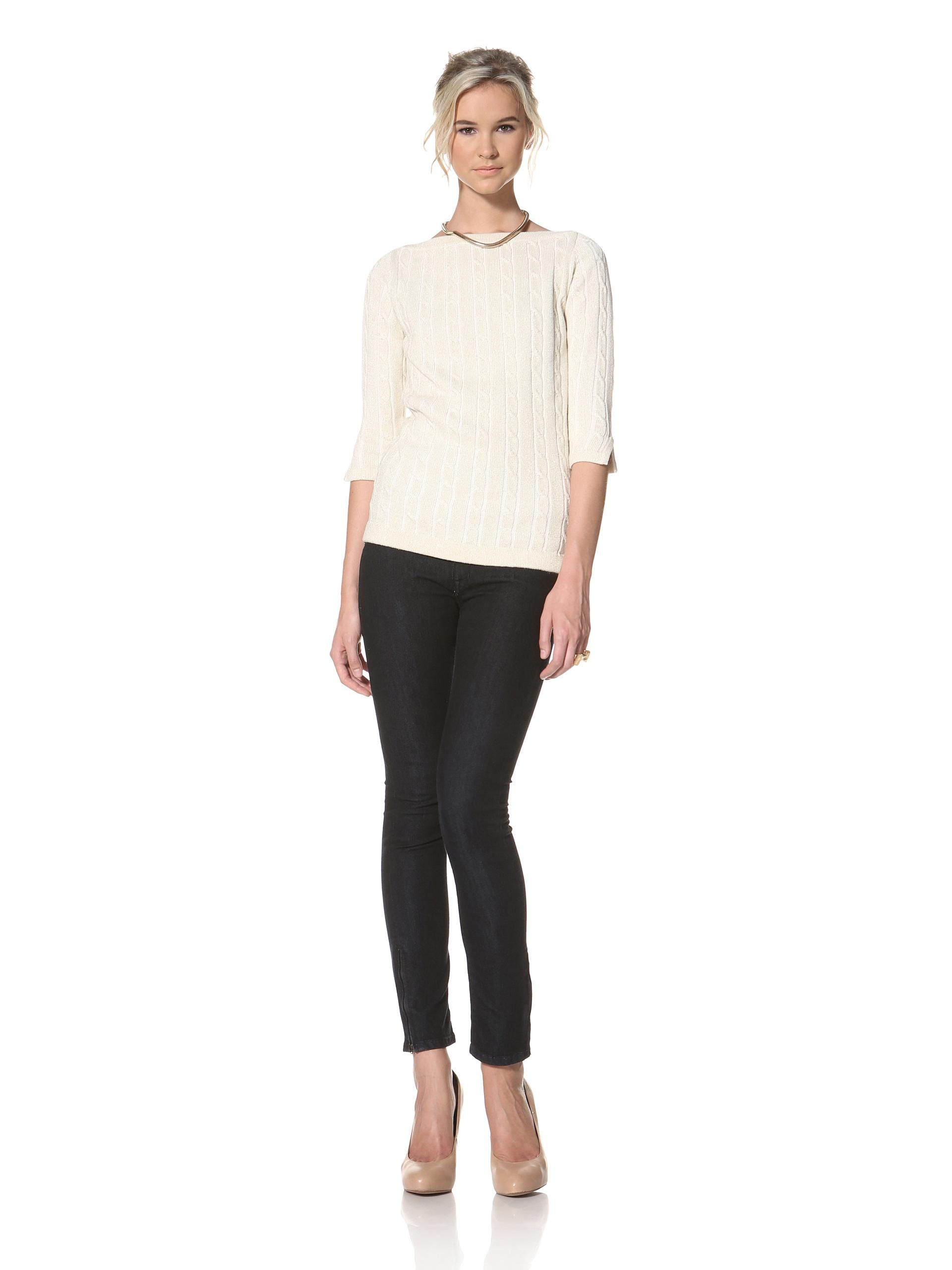 Trovata Women's Bardot Pullover Sweater (Gold)