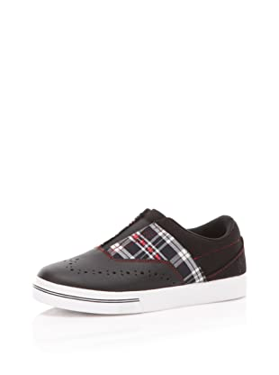 Royal Elastics Women's Knight Sneaker (Black/Red)