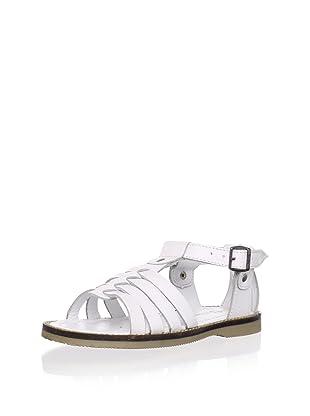 Billowy Kid's T-Strap Sandal (White)