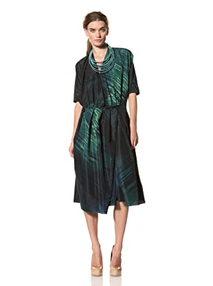 MARNI Women's Abstract Print Cross-Pleat Dress (Multi)