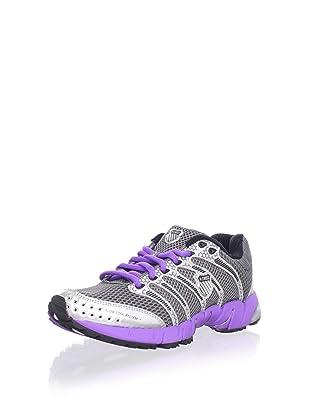 K-Swiss Women's K-Ona C Running Shoe (Charcoal/Silver/Neon Violet)