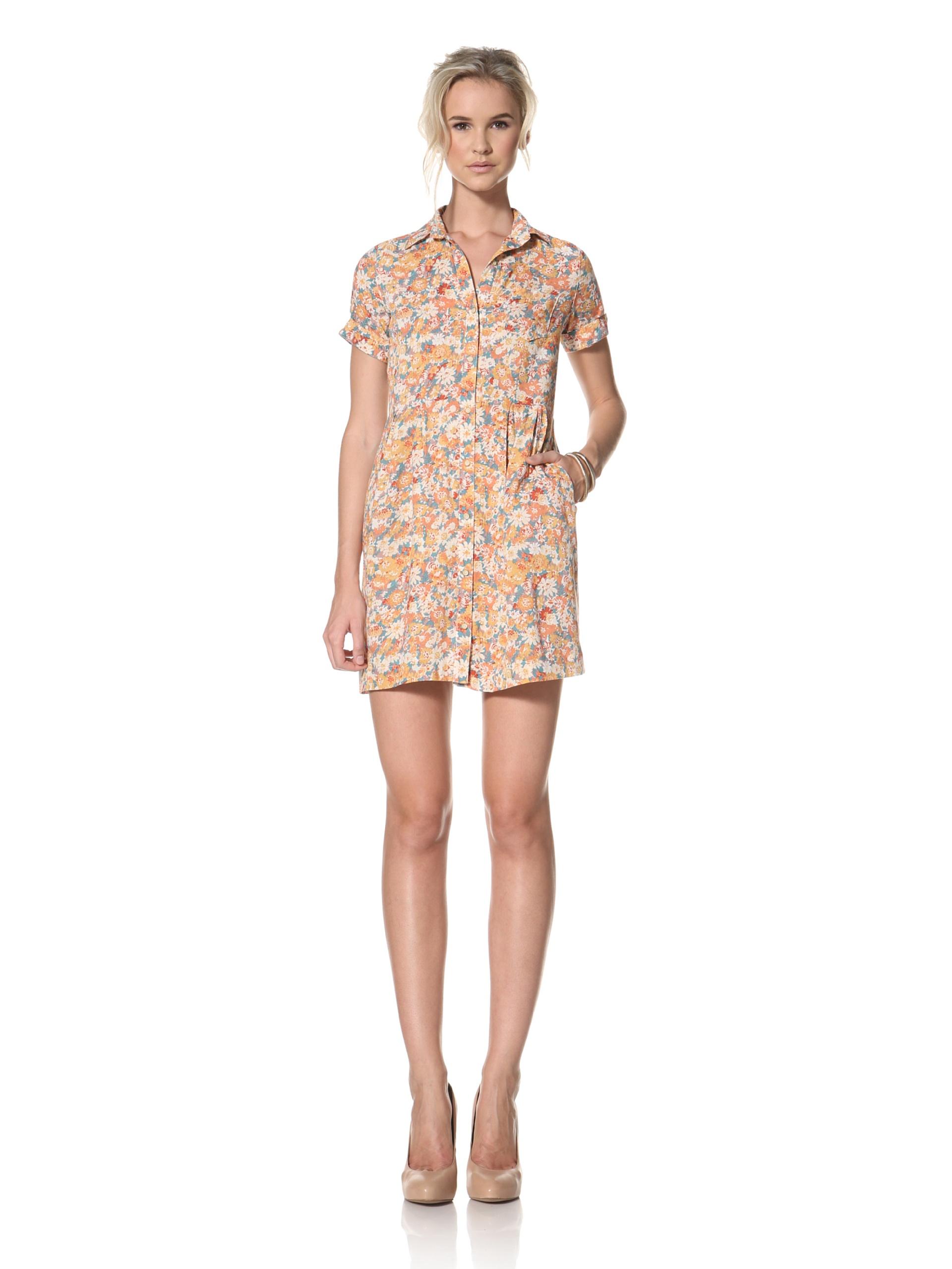 Trovata Women's Donna Shirt Dress (Floral Multi)