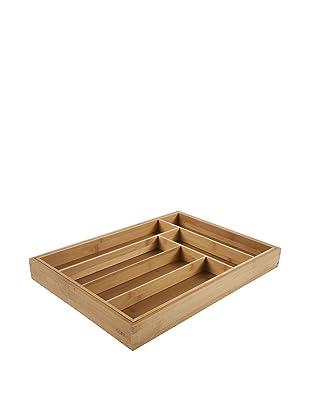Core Bamboo Large Expandable Flatware Tray, Natural