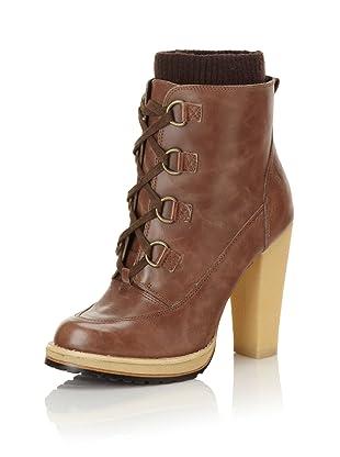 Plenty By Tracy Reese Women's Capri Lug Ankle Boot (Praline/Brown)