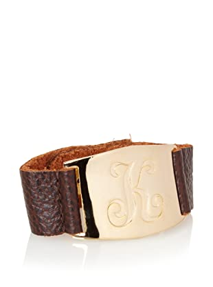Lisa Stewart Gold K Initial Cuff Bracelet