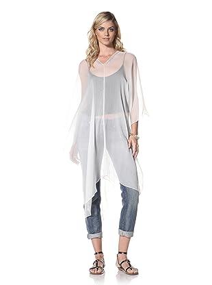 +Beryll Women's Silk Poncho (White)
