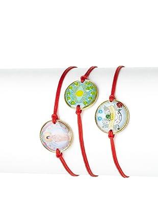 Mercedes Salazar Set of 3 Luck Charm Bracelets