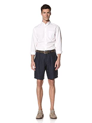 E.Tautz Men's Linen Shorts (Navy)