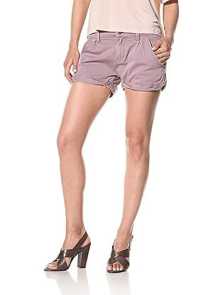 [BLANKNYC] Women's Twisted Cuff Shorts (Grape)
