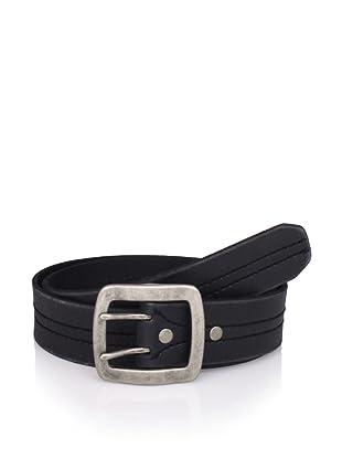 John Varvatos Star USA Men's Leather Belt (Black)