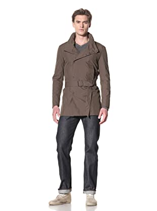 Rogan Men's Kean Double Breasted Trench (Canteen)