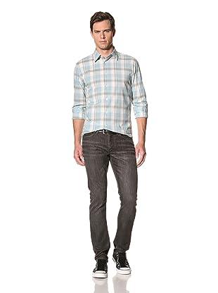 John Varvatos Star USA Men's Charcoal Wash Wight Jean (Carbon)