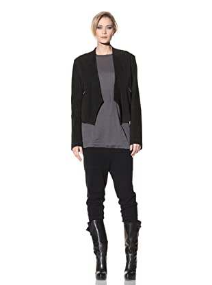 Haider Ackermann Women's Cropped Leather Jacket (Black)