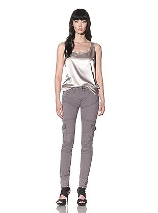 Dylan George Women's Eva Skinny Twill Cargo Pant (Steel)
