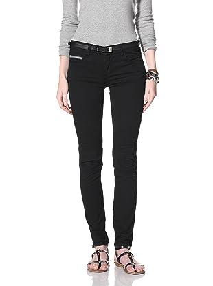 Rockstar Women's Biker Twill Jean (Black)