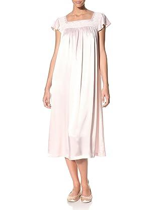 Oscar de la Renta Women's Silky Charmeuse Long Gown (Light Whisper Pink)
