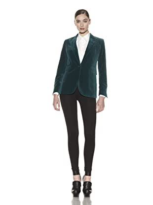 Costume National Women's Velvet Jacket (Green)