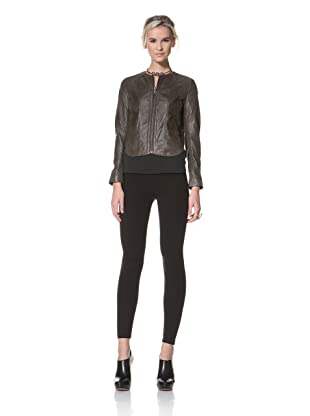 HARE + HART Women's Davis Leather Jacket (Coffee)
