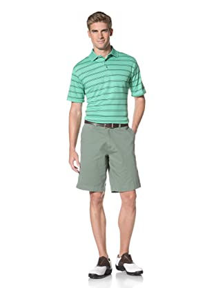 PGA Tour Men's Short Sleeve Stripe Polo (Greenbriar)