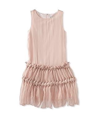 Charabia Girl's Sleeveless Chiffon Dress (Pink)
