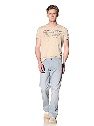 No Excess Men's Twill Flat Front Pant (Cloud)