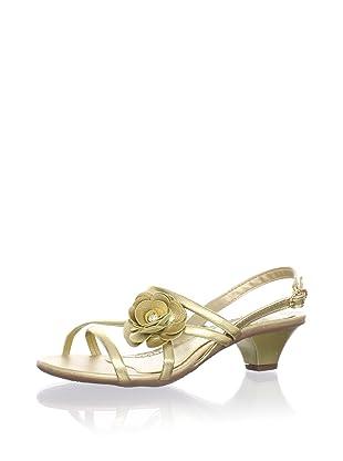 Pampili Kid's Strappy Kitten Heel Sandal (Gold)