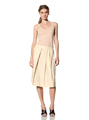 MARNI Women's Solid Pleated Skirt (Ivory)