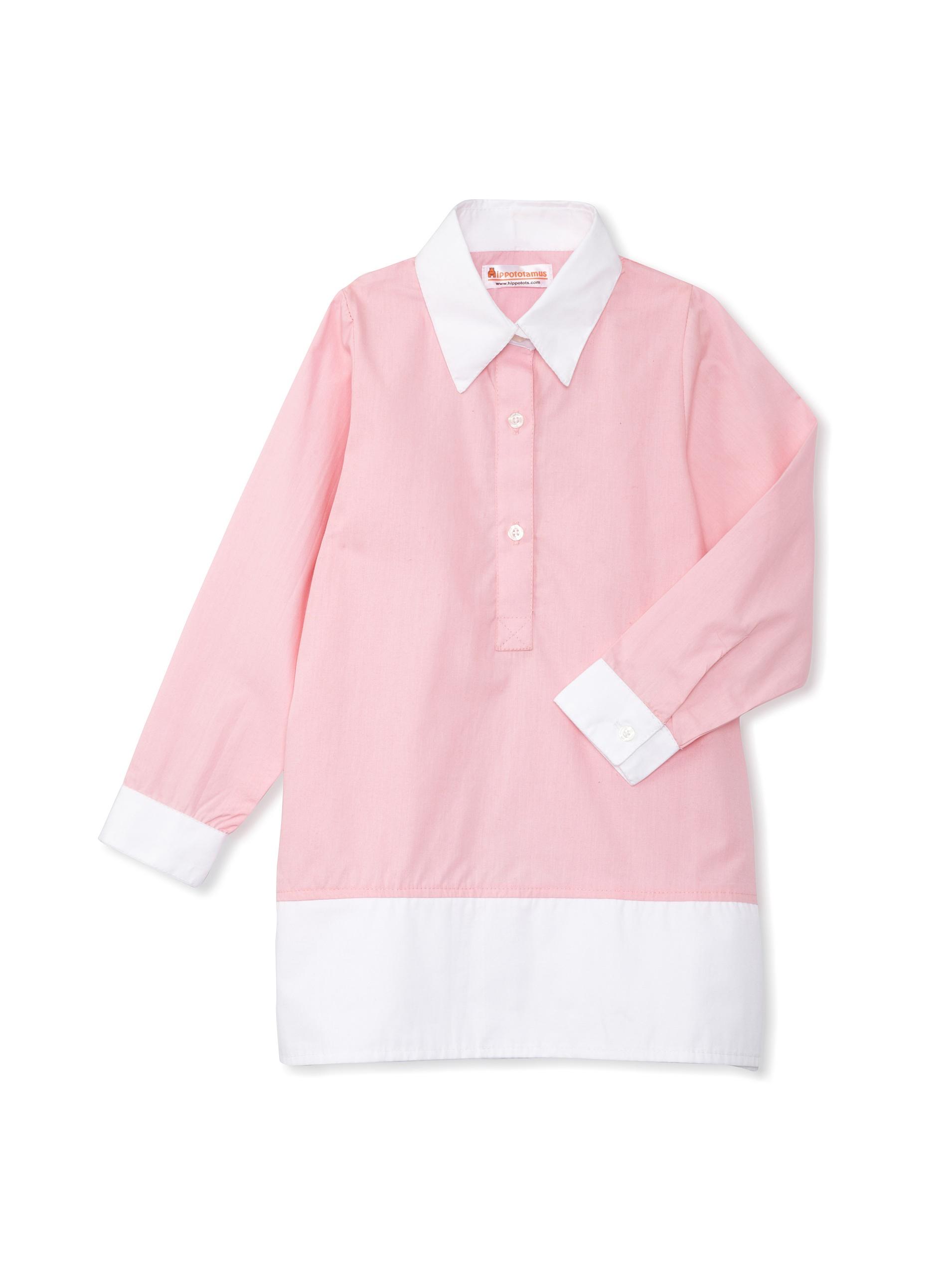 Hippototamus Button-Front Tunic Dress (Pink)
