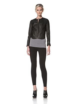HARE + HART Women's Davis Leather Jacket (Black)