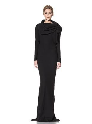 Haider Ackermann Women's Wrap Neck Evening Dress (Black)