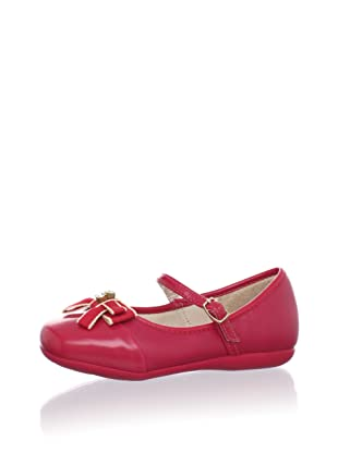 Pampili Kid's Grosgrain Bow Mary Jane (Red)