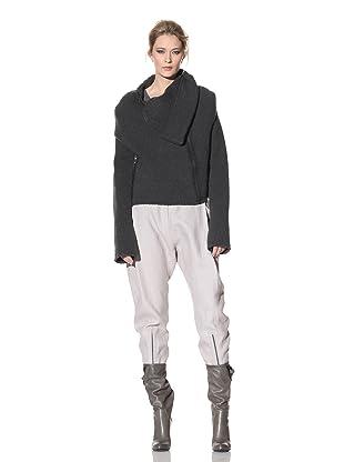 Haider Ackermann Women's Front-Zip Sweater (Anthracite)