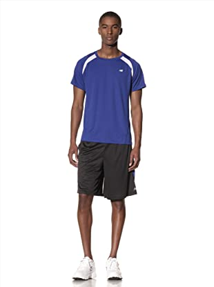 New Balance Men's Short Sleeve Sprint Top (Surf the Web/White)