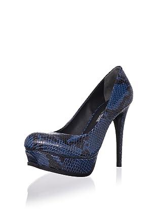 Pour La Victoire Women's Portia Platform Pump (Teal Snake)