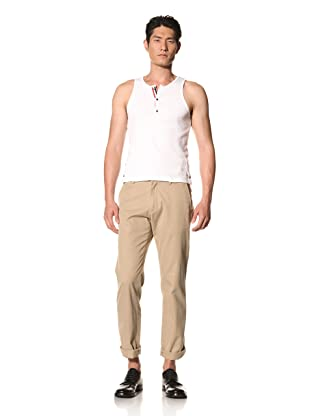 Thom Browne Men's Henley Tank Top (Optic White)