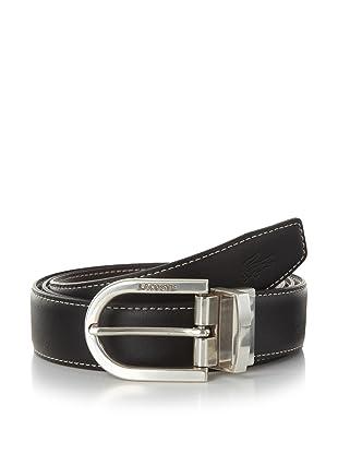 Lacoste Men's Stitched Reversible Leather Belt (Black/brown)