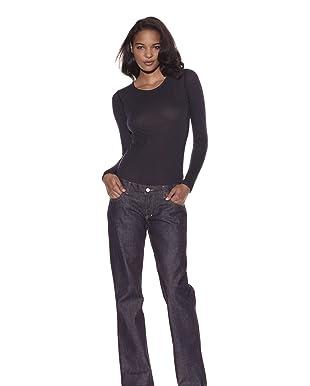 Jean Shop Women's Clean Flare Leg Jeans (Indigo)