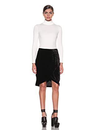 Costume National Women's Velvet Skirt (Black)