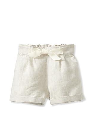 Je suis en CP! Cuffed Shorts (Beige Linen)