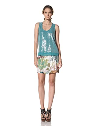 Kenneth Cole Women's Sequin Tank (Teal)